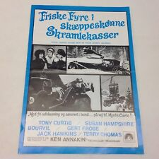 Those Daring Young Men In Their Jaunty Jalopies 1969 Danish Movie Press Release