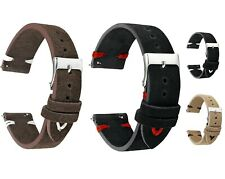 Suede Leather Watch Strap Band For Tissot Citizen Timex Oris Casio Seiko Orient