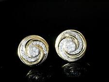 585 Gold Ohrstecker grosse Spiralen 11,0 mm mit 1 Paar mit Zirkonia Steinen