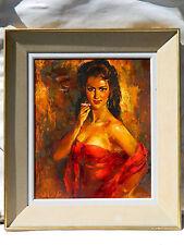 Robert VAN CLEEF (1914) FEMME - CIGARETTE Tableau Peinture Huile EXPRESSIONNISTE