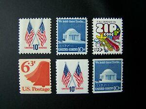 US STAMPS 1973-1974 YEARS COMPLETE SET, SCOTT # 1509-1511, 1518-1520. OG, MNH