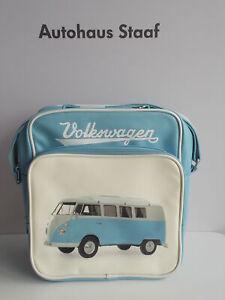 VW Retrotasche blau / weiß; Volkswagen Lifestyle 1H0087319, Umhängetasche