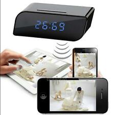 WiFi Wireless HD Mirror Alarm Clock Web Cam+ Night Version Remote Control Camera