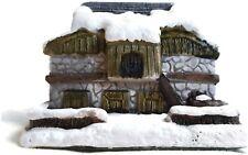 American Rustic Christmas Stone Barn 1989 RSVP Vintage Miniature Cottage w/ Box