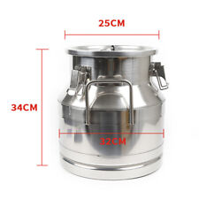 20L Milk Can Wine Pail Bucket Tote Oil Bucket Jug Oil Barrel Canister 5.25Gal Us
