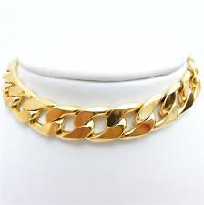 """SALE !! MEN'S HOT SALE ! STAMPED 24KGL Yellow Gold Filled Bracelet 24K 8.5"""" inch"""