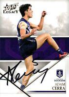 ✺Signed✺ 2018 FREMANTLE DOCKERS AFL Card ADAM CERRA