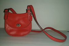 AUTHENTIC COACH CARNELIAN RED LEGACY LEATHER MINI SADDLE BAG NEW YORK