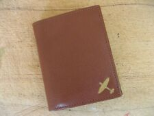 New WWII RAF Spitfire logo brown leather wallet 4 flying flight jacket repro