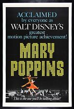 MARY POPPINS * CineMasterpieces ORIGINAL MOVIE POSTER 1964 WALT DISNEY DANCING