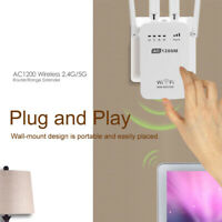 AC1200 2.4GHz/5GHz Dual Band WiFi Repeater & Router Wireless-N Range Extender