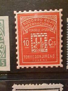 SPAIN CIVIL WAR GUERRA - TORREDONJIMENO - LOCAL CITY POST