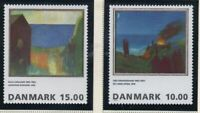 Denmark Sc 1033-34 1995 Paintings stamp set mint NH