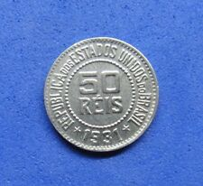 LB) Brazil Brasil -  50 Reis 1931 KM#517  NICE COIN  RARE  KEY DATE