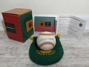 TED WILLIAMS Signed Autographed Baseball w/ UDA-Upper Deck Authentication COA
