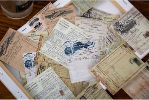 Junk Journal Assorted Paper Pack 50PCS Vintage Ephemera Tickets Books Print