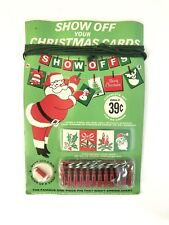 Vintage Show Off Your Christmas Cards With Show-Offs 1964 New Set For 25 Cards
