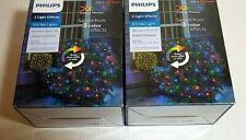 Philips 100 Ct Create Motion LED 3 Color Effects Mini Net Lights Multi/White 2Pk