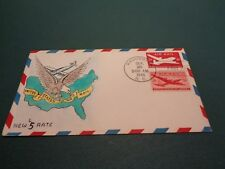 #UC14/C32 Combo Mae Weigand Hand-Painted UA FDC 5 Cent Skymaster 9-25-46 HP #34