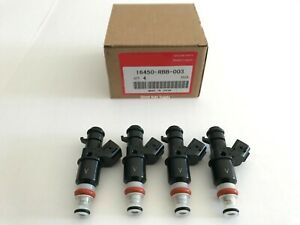4 OEM NEW FUEL INJECTORS 2.0L 2.4L 16450-RBB-003