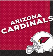 One Package Of 36 Arizona Cardinals Nfl Football 12 7/8 In.² Napkins