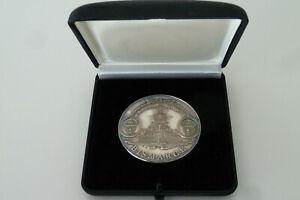 Medaille Schlachtschiff Bismarck - Lutjens, Lindemann Silber 999 im Etui