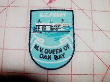 BC Ferry Service British Columbia Canada Souvenir Patch M. V.  Queen of Oak Bay