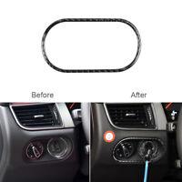 For Porsche Macan 2014-2019 Carbon Fiber Headlight Switch Panel Cover Trim