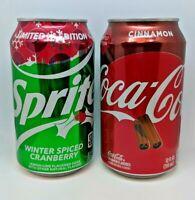 (2) LIMITED EDITION HOLIDAY COCA-COLA CINNAMON & SPRITE WINTER SPICED CRANBERRY