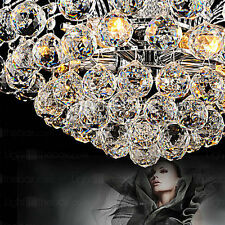 Modern Large Crystal Chandelier  Downlight Pendant Hanging Lamp Ceiling Fixtures