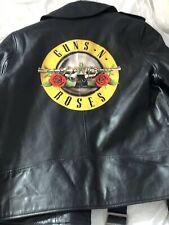 New Guns N Roses Leather Jacket  - Bullet Logo - Axl Slash Duff Izzy Steven RARE