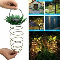 Garden Pineapple Solar Light Hanging Waterproof Lamp Outdoor Lantern Decoration,