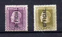 New Zealand KGV 1925 4d & 9d Official mint MH #0101 #0104 WS21132