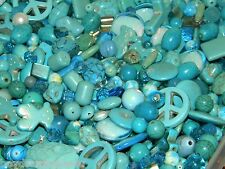 NEW 1 pound Lt BLUE 6-15mm RANDOM MIXED LOOSE Beads Lot Gem stone Pearls, GLASS