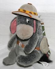 "Walt Disney World 9"" Plush SAFARI EEYORE w/ tags hat backpack Winnie the Pooh 3+"