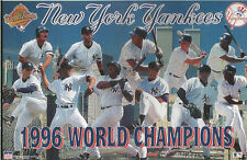 1996 NEW YORK YANKEES CHAMPS Jeter Rivera Starline Poster MINI Promo Piece 3x5