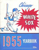 1955 Chicago White Sox Baseball Yearbook,magazine,Minnie Minoso, Nellie Fox ~ VG