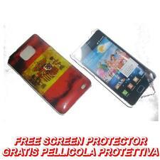 Pellicola+custodia BACK COVER FLAG SPAGNA per Samsung I9100 Galaxy S2 plus I9105