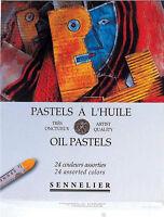 Sennelier Artists Professional Quality Oil Pastel Box Set - 24 Assorted Colours