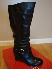 NIB Women Guess Myriam Wedge Boots BLACK 8.5