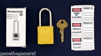 NEW MASTER LOCK, SAFETY LOCKOUT PADLOCK YELLOW 410YLW MEETS OSHA REQUIREMENTS