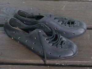 Vintage NOS? Peugeot lady's leather cycling shoes, black size UK 5 6 7