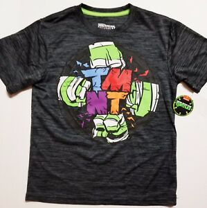 TMNT NWT SILKY T-SHIRT BOY'S SIZE M L XL GREEN BLK TEENAGE MUTANT NINJA TURTLES