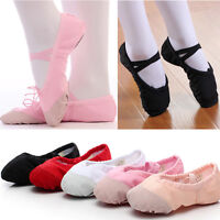 Ballet Dance nastics Leather Canvas Shoes Split Sole Children's Adult's Size