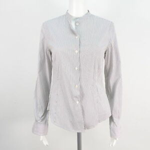 PAUL SMITH Bluse weiß grau gestreift Damen Baumwolle Gr. S/M Blouse Cotton