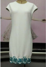 Women white embroidery Maternity dress Small/Medium size free shipping