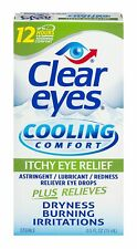 Clear Eyes Cooling Comfort Itchy Eye Relief Drops 0.5 FL OZ 3pk