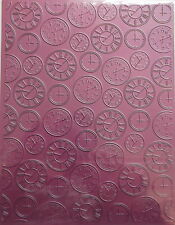 "Cheery Lynn Embossing Plate - Clocks - 6"" x 8"""