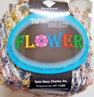 1 Stacy Charles Tahki FLOWER Ribbon Yarn Glitter Multi-Color & Gold