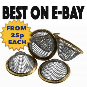 Pipe Screens Gauze Conical Steel Brass Filter Screen Cone- pipes bongs-All sizes